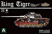 Takom 1:35 King Tiger Sd.Kfz.182 Porsche Turret W/Zimmerit Full Interior 2046
