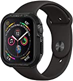 【Spigen】 Apple Watch 44mm ケース 【 Series 5 / series 4 対応 】 落下 衝撃 吸収 タフネスデザイン ラギッド・アーマー 062CS24469 (ブラック)