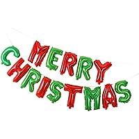 Perfk クリスマス 休日 装飾 アルミ箔製 Merry Christmas 風船 ハンギング オーナメント ロープ付