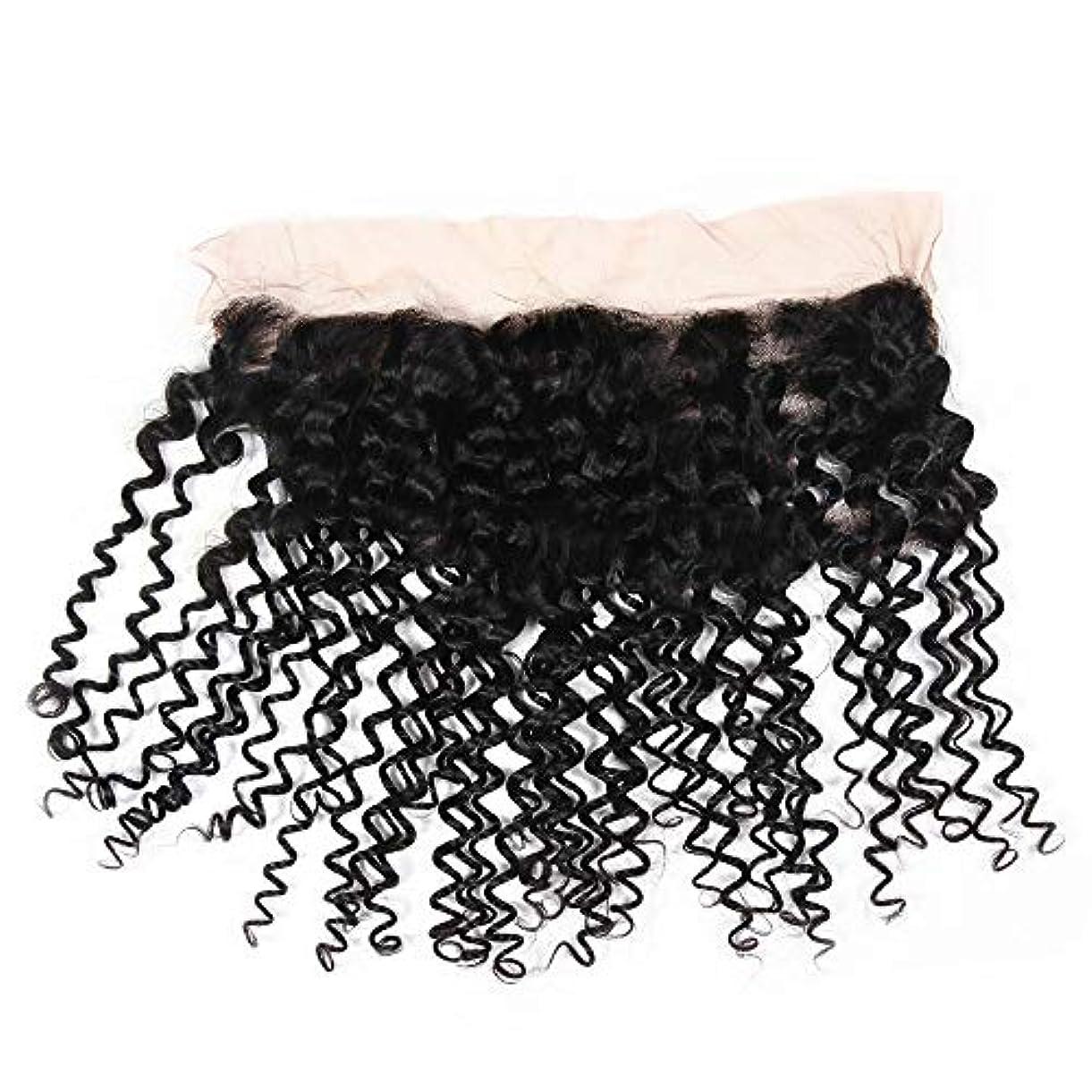 統計根絶するマエストロWASAIO ブラジル人のRemyの人間の毛髪の閉鎖の毛の自然な色 (色 : 黒, サイズ : 20 inch)