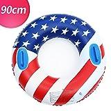 浮き輪 大人用 浮輪 フロート 直径90cm 大きい 厚 アメリカ 国旗柄 おしゃれ うきわ 取っ手付き プール ビーチ 海水浴 夏休み レジャー用品 レディース メンズ