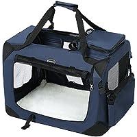 SONGMICS キャリーバッグ 中型犬 大型猫 ペットキャリー 省スペース 頑丈耐久 変形しない 室内用可 NPDC60Z