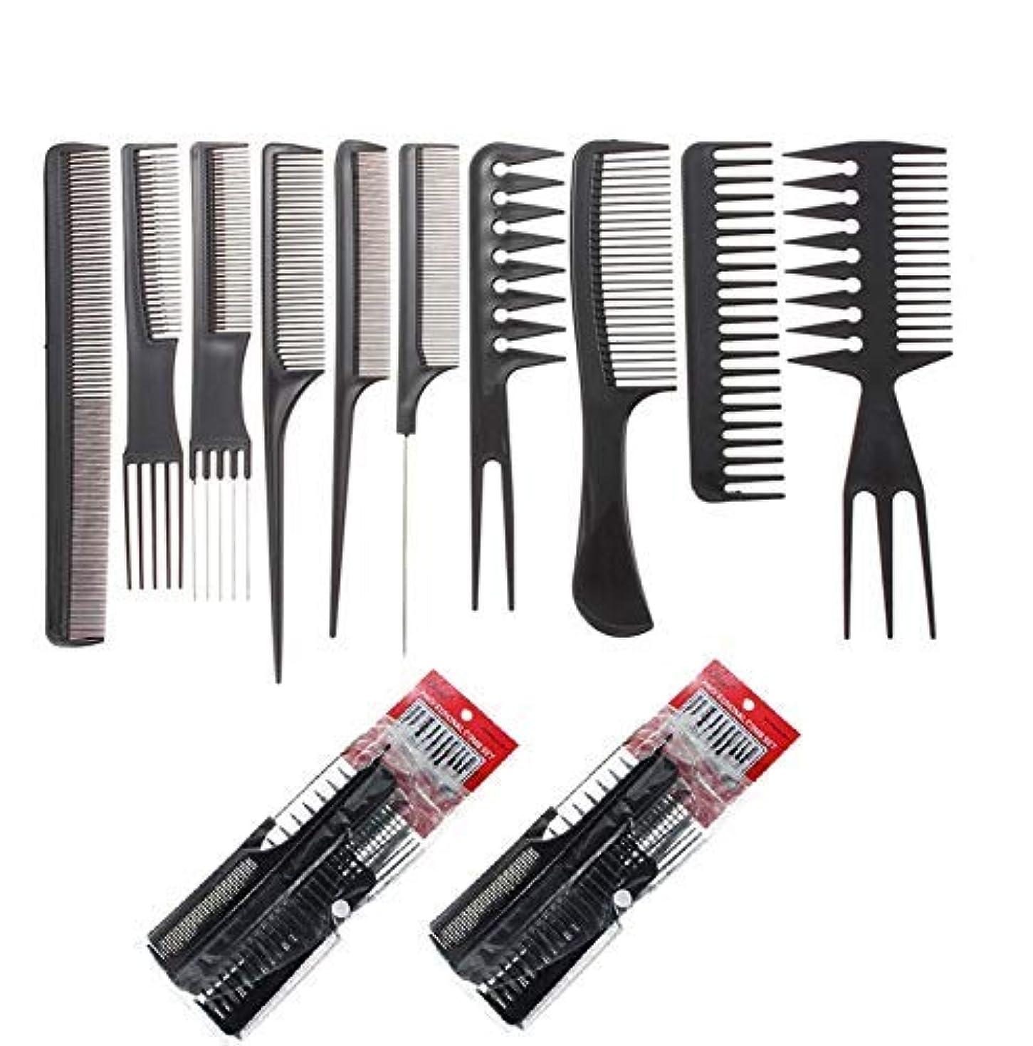 きょうだいレイプドナウ川SBYURE 20pcs Professional Styling Comb Set,10pcs/Set,2 Set Salon Hairdressing Combs Hair Care Styling Tools Hair...