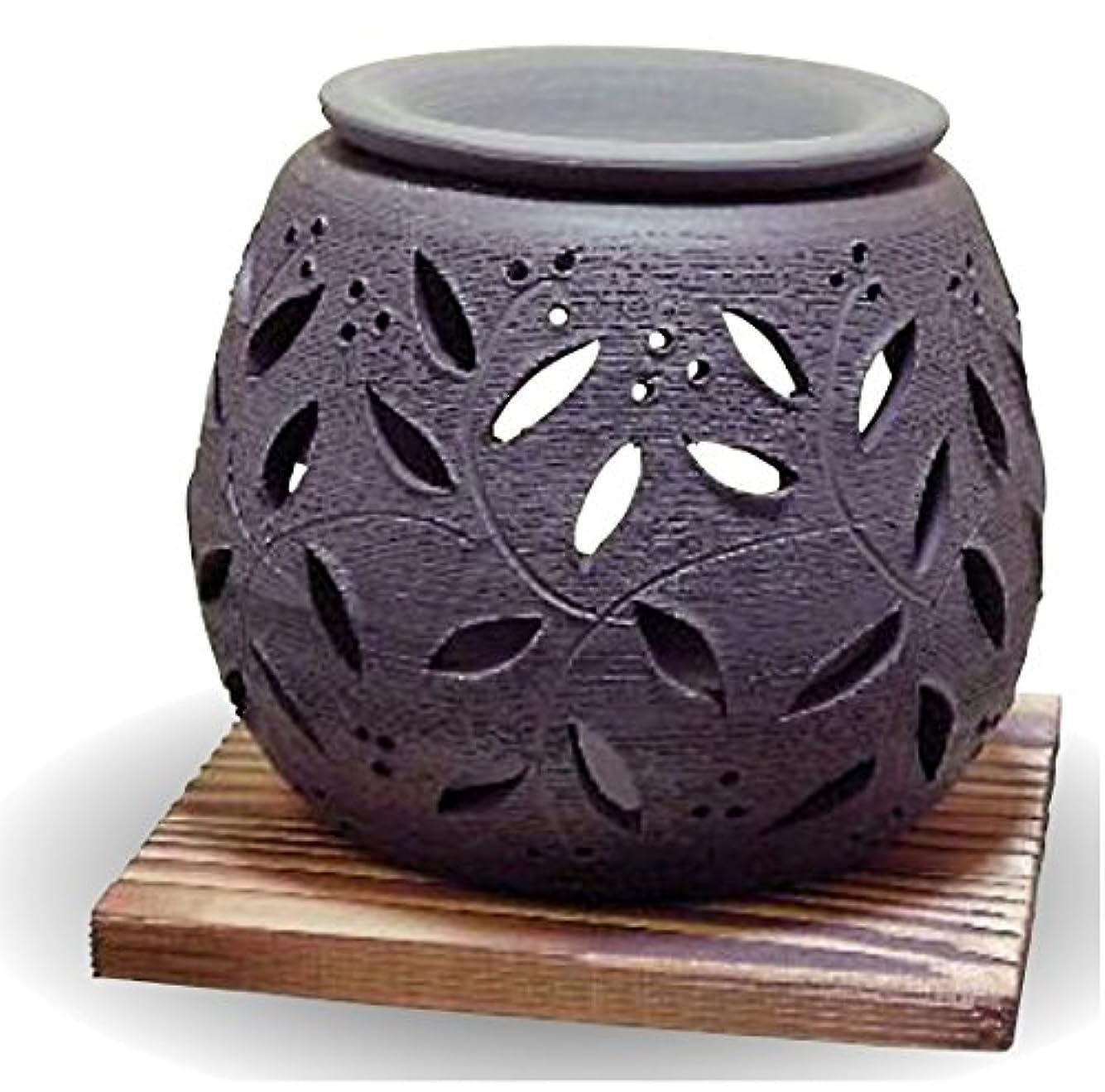 ますますシャンパンお手伝いさん常滑焼 茶香炉(アロマポット)径10×高さ9cm