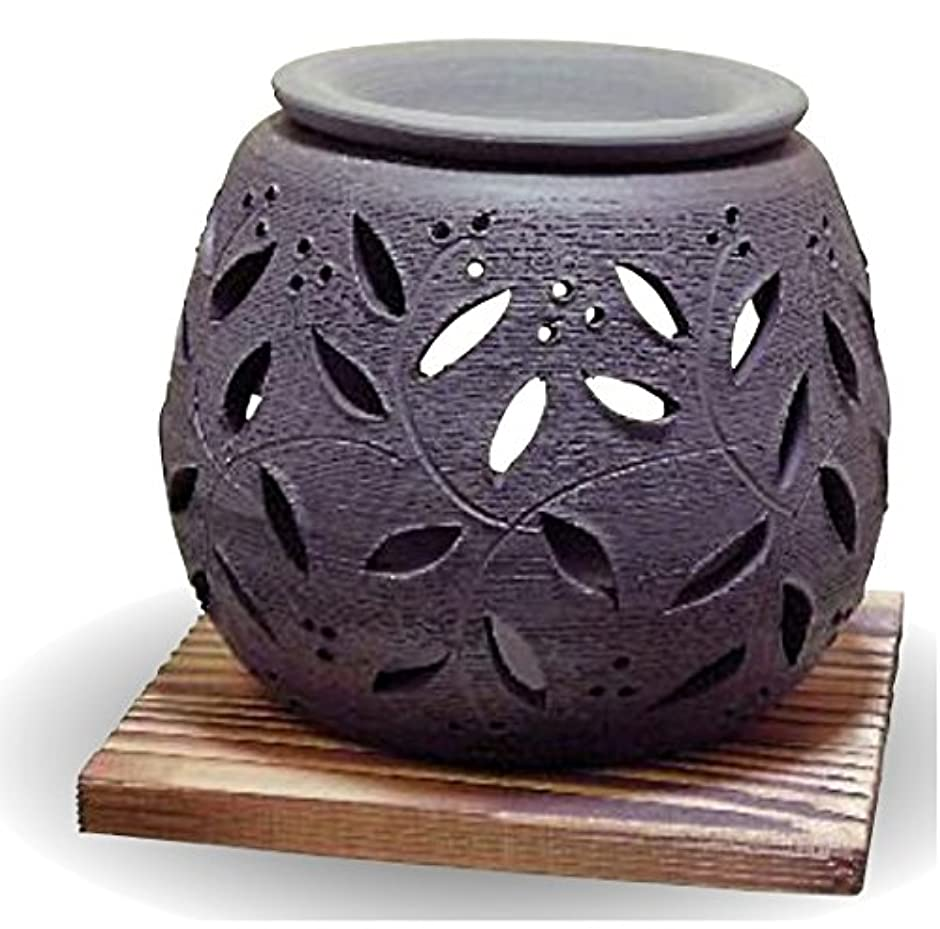 乱暴な熱心な個人常滑焼 茶香炉(アロマポット)径10×高さ9cm