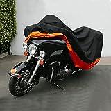oenbopo バイクカバー UVカット防水 防塵 強風対策 耐熱 高品質 大型 オートバイクカバー 収納袋付き (XXXL)