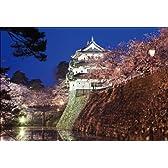 PT-003 弘前城・夜桜 「日本の名城 - 桜」ポストカード