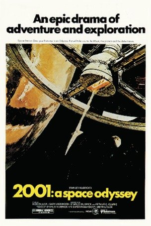 2001: A SPACE ODYSSEY POSTER (68,5cm x 101,5cm)