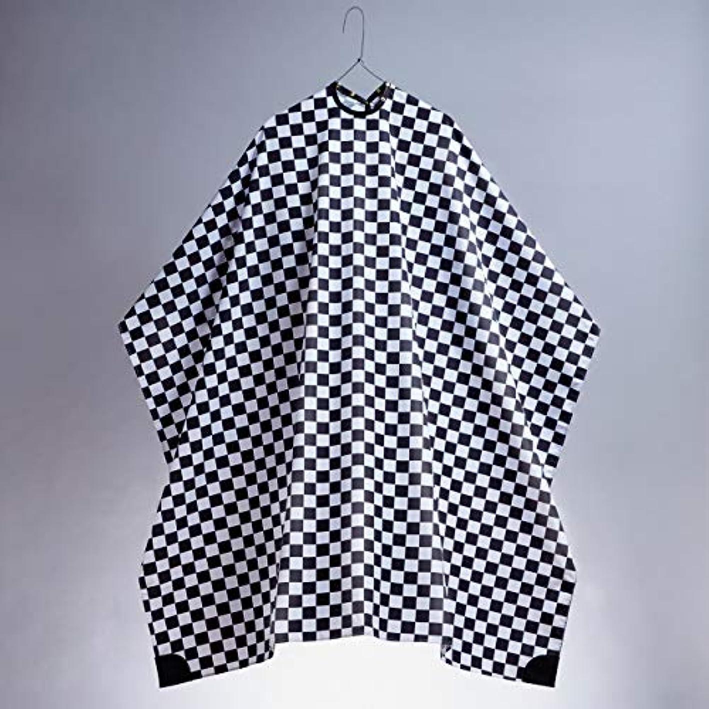 慰め啓発する負担中村商店 カッティングケープ プロフェッショナル 散髪ケープ カットクロス バーバー 美容室 理容室 (Checkered)