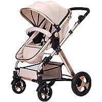 赤ちゃんのベビーカーはリクライニングポータブル折りたたみ赤ちゃん双方向ベビーカー(シャンパンゴールド)をリクライニングすることができます58 * 80 * 106センチメートル