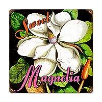 なまけ者雑貨屋 Sweet Magnolia アメリカン 60'S レトロ ブリキ 看板 メタルプレート アンティーク おしゃれ 雑貨 インテリア