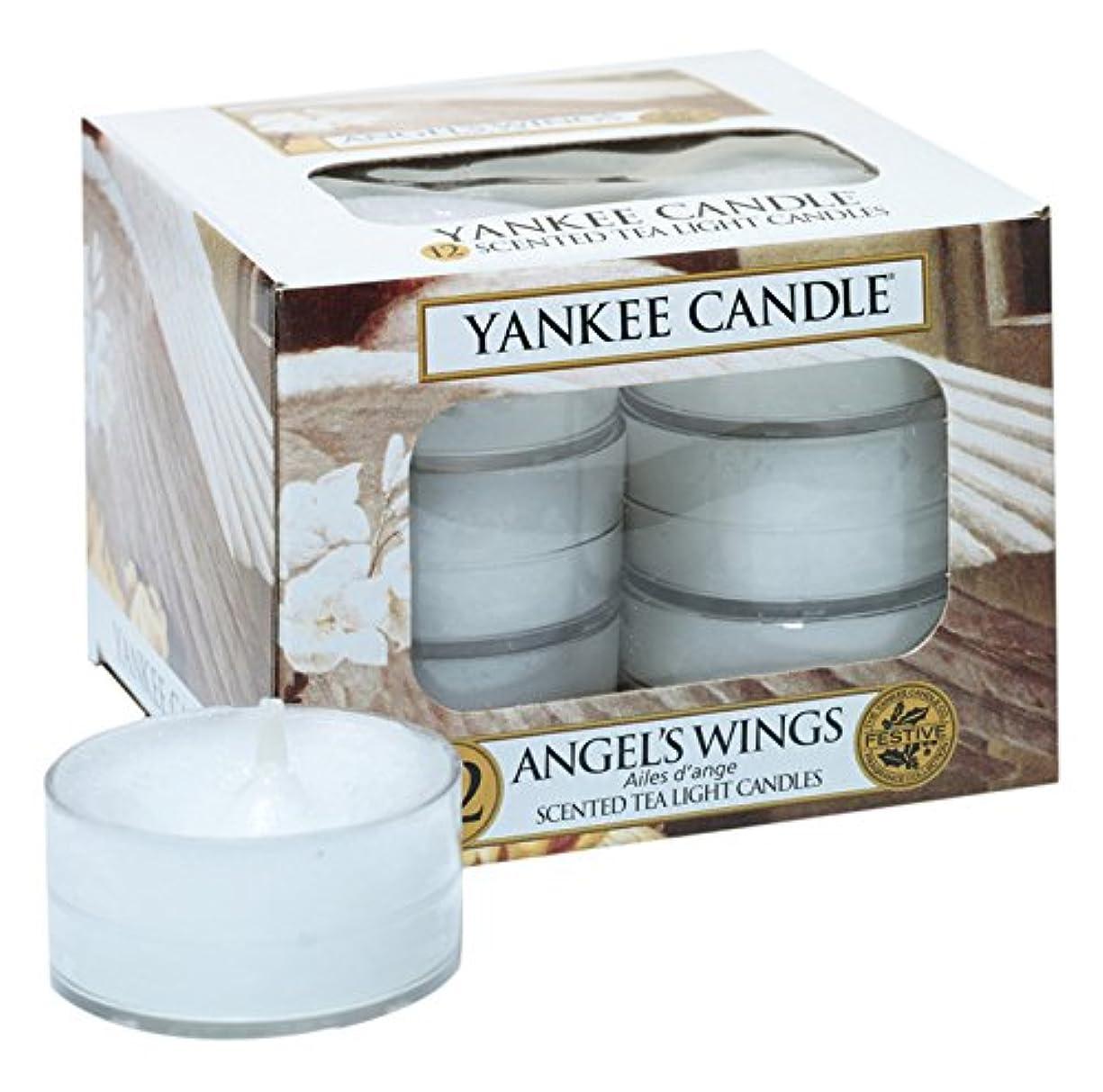 ヒューム麻痺手書きYankee Candle Angel 's Wings 12香りつきティーライトキャンドル