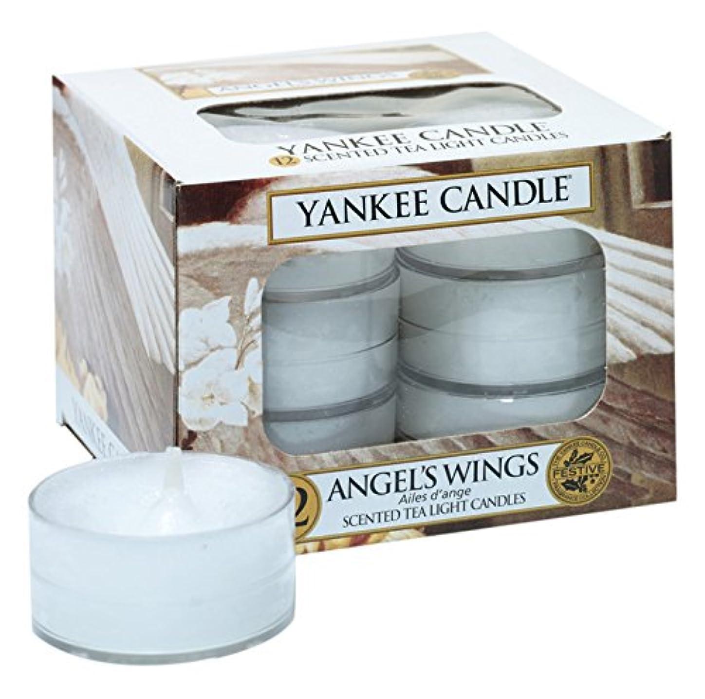 驚かすガス正しくYankee Candle Angel 's Wings 12香りつきティーライトキャンドル