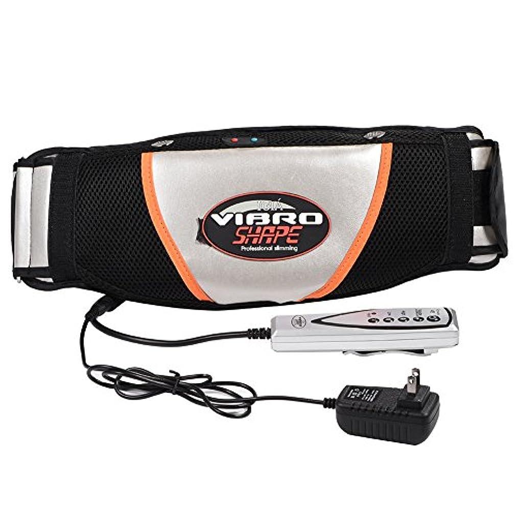 お勧め車両バリケード腹部マッサージャー ベルト 振動 ウエスト 腹部 筋肉 マッサージャー 電気ウエスト トレーナー トレーニング ベルト スマート リモコン操作 使用便利