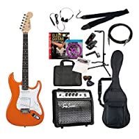 PhotoGenic エレキギター TG75 アンプセット ストラトキャスタータイプ ST-180/OR オレンジ