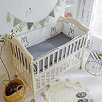 Rart 赤ん坊のまぐさ桶のバンパーをコットン, バンパーのすべてのラウンド ユニセックス 無衝突赤ちゃんの寝具セット パッド入りのベッド バンパー ベッドレール-B 120x65cm(47x26inch)