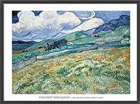 ポスター フィンセント ファン ゴッホ Landscape from Saint-Remy 1889 額装品 ウッドベーシックフレーム(ブラック)