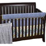 Cotton Tale Designs Front Crib Rail Cover Up Set, Zebra Romp by Cotton Tale Designs [並行輸入品]