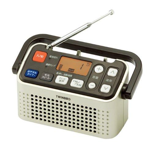 TWINBIRD 3バンドラジオ付ワイヤレス手元スピーカー シャンパンゴールド AV-J135G
