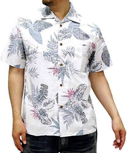 (ルーシャット) ROUSHATTE アロハシャツ 半袖 シャツ ハイビスカス 20柄 M 柄A