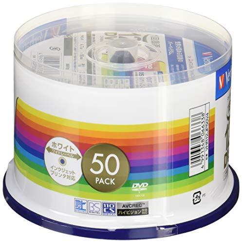『三菱ケミカルメディア Verbatim 1回録画用DVD-R(CPRM) VHR12JP50V4 (片面1層/1-16倍速/50枚)』の1枚目の画像