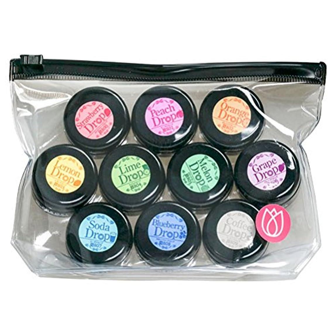 情熱とスクラブプリジェル ジェルネイル スーパーカラーEXドロップシリーズ10色セット UV/LED対応 3g×10色
