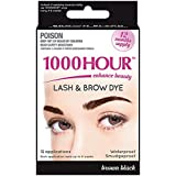 1000 HOUR Eyelash & Brow Dye Kit, Brown/Black, 72g