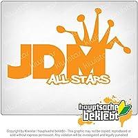 JDMオールスターズ JDM All Stars 16cm x 10cm 15色 - ネオン+クロム! ステッカービニールオートバイ