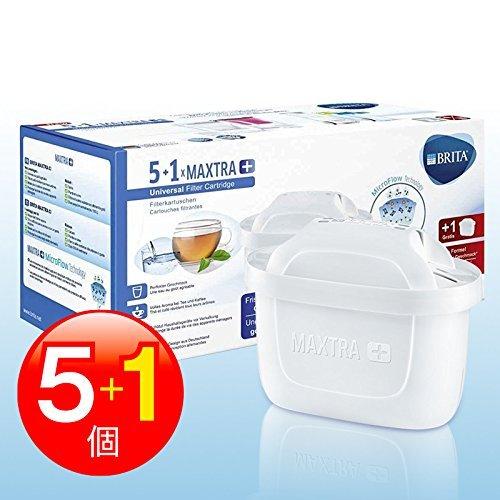 New!! BRITA Maxtra + (ブリタ マクストラ プラス) 浄水器ポット交換用カートリッジ 5+1個パック ★おいしさ25%で新登場!!★ [並行輸入品]