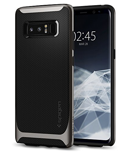 【Spigen】 Galaxy Note 8 ケース, [ 二重構造 バンパー ] [ Qi 充電 対応 ] [ 米軍MIL規格取得 ] [ 落下 衝撃 吸収 ] ネオ・ハイブリッド ギャラクシーノート8 用 カバー (Galaxy Note 8, ガンメタル)