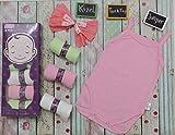 KAZEL (カーゼール) 綿100% TANKTOP JUMPER 赤ちゃん・ベビー用 ノースリーブ スリーブレスボディースーツ ベビー肌着 ロンパース (6枚入り) 女の子 (Mサイズ)