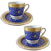 オスマントルコ時代にアラビア半島から伝わったコーヒーは、またたくまに大流行!小さなカップが、トルココーヒー用に作られました。