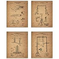 体操特許–4つのセット–マットフォトPrints