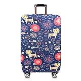 Youth Union スーツケースカバー 伸縮素材 欧米風 キャリーバッグ お荷物カバー (L(25-28 inch luggage), Cartoon Cat)