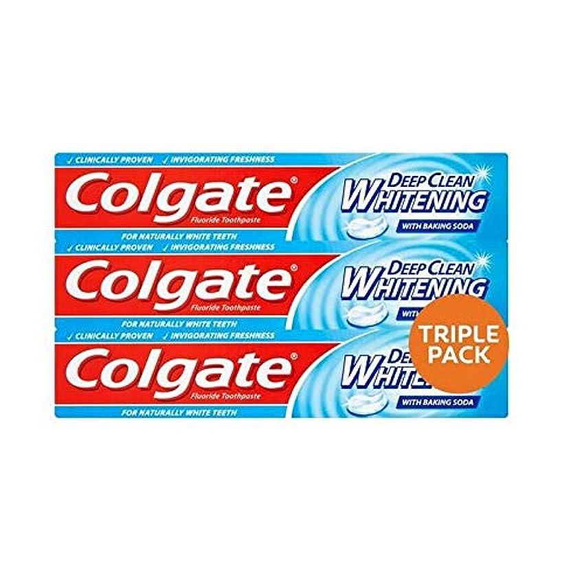 印象的な一生アジア人[Colgate ] コルゲート深いクリーンホワイトニング歯磨きトリプルパック3×75ミリリットル - Colgate Deep Clean Whitening Toothpaste Triple Pack 3 x 75ml...