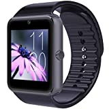 IWOスマートウォッチ smart watch Bluetooth搭載 多機能腕時計 スマートデジタル腕時計 スマート ウォッチ Watch 健康 タッチパネル 着信お知らせ/置き忘れ防止/歩数計/アラーム時計/SMS通知 (ブラック)
