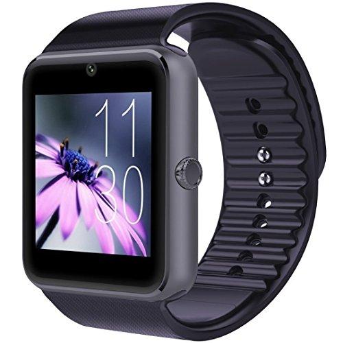 スマートウォッチ smart watch Bluetooth搭載 多機能腕時計 スマートデジタル腕時計 スマート ウォッチ Watch 健康 タッチパネル 着信お知らせ/置き忘れ防止/歩数計/アラーム時計/SMS通知 (ブラック)