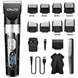 YOHOOLYO Hair Clippers Hair Trimmer Hair Cut Kit Cordless Ceramic Blade Waterproof Rechargeable 200 Minutes Runtime with LED Display and AU Plug