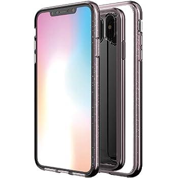 e790ff02f0 Matchnine iPhone XS Max ケース ミラー付き BOIDO MIRROR クリアピンクパール 6.5インチ アイフォン カバー
