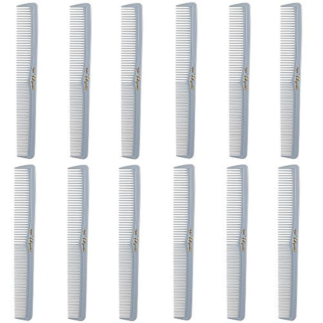 小さい問題保存Barber Beauty Hair Cleopatra 400 All Purpose Comb (12 Pack) 12 x SB-C400-LGREY [並行輸入品]