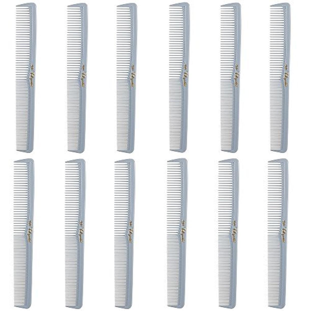 スペイン語青写真必需品Barber Beauty Hair Cleopatra 400 All Purpose Comb (12 Pack) 12 x SB-C400-LGREY [並行輸入品]