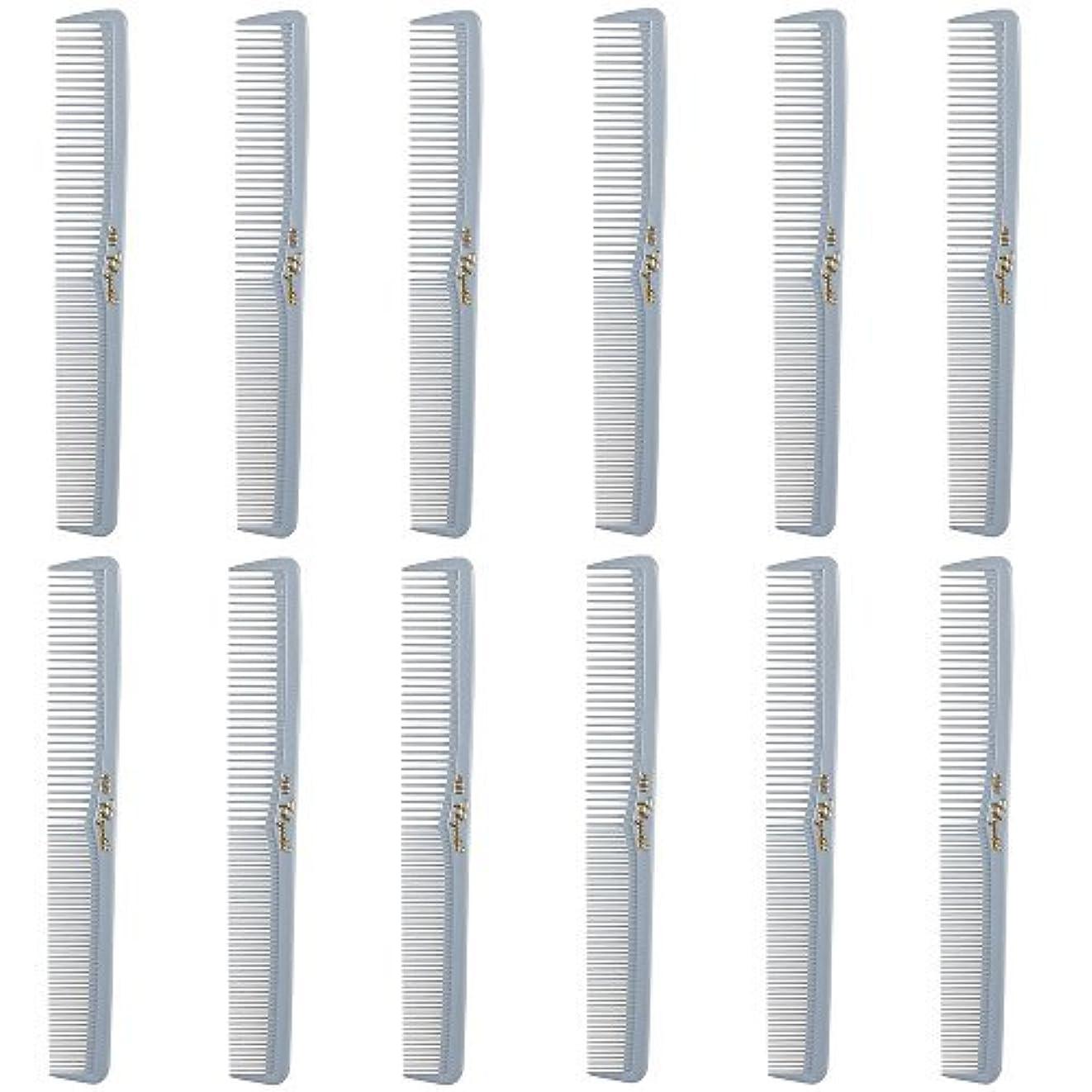 トレッド発明する取り消すBarber Beauty Hair Cleopatra 400 All Purpose Comb (12 Pack) 12 x SB-C400-LGREY [並行輸入品]