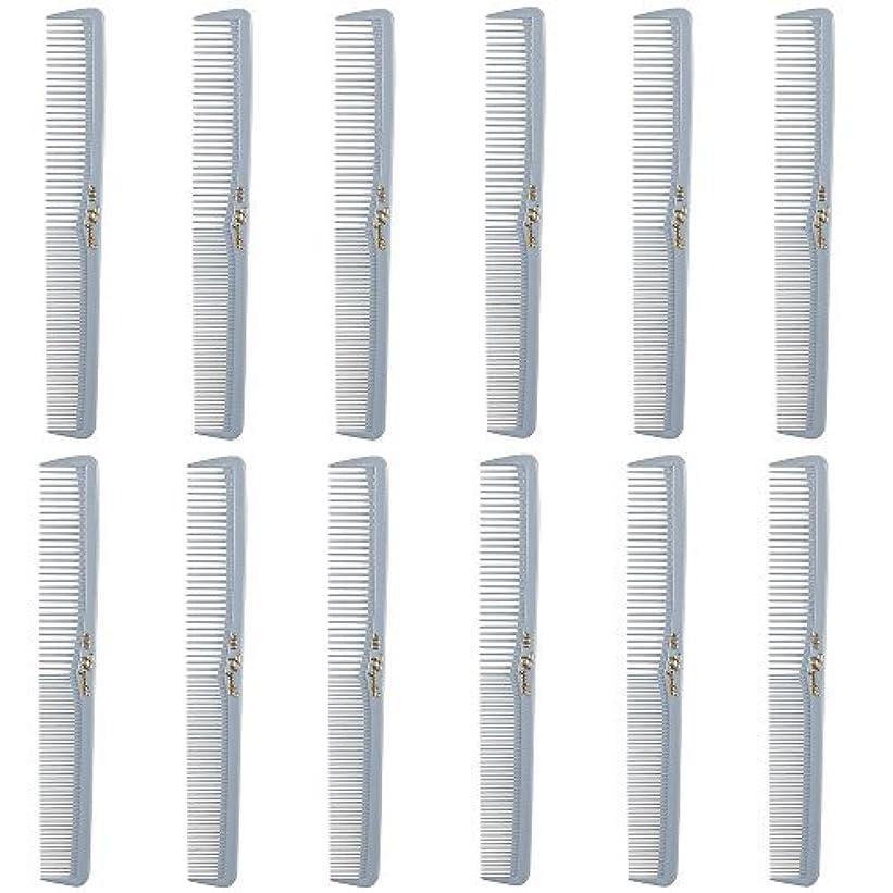 ブリッジゆるいエミュレーションBarber Beauty Hair Cleopatra 400 All Purpose Comb (12 Pack) 12 x SB-C400-LGREY [並行輸入品]