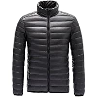 Feicuan Men's Winter Stand Collar Weatherproof Ultra-Light Down Jacket