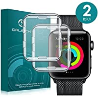 Apple Watch 38mm ケース/フィルム Dalinch Apple Watch ケース 耐衝撃 フルカバー 装着簡単 TPU全面保護ケース For Apple Watch Series 3/2/Hermes/Nike+ Edition (2枚 38MM 透明)