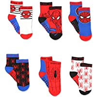 Super Hero Adventures Spider-Man Boys 6 pack Socks with Grippers (Baby/Toddler)