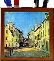 Rikki Knight Alfred Sisley Art Place at Argenteuil Design 5-Inch Wooden Tile Pen Holder (RK-PH3411) [並行輸入品]