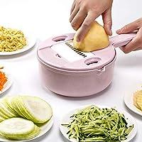 LVESHOP 調整可能な野菜チョッパー - キッチンカッター、チーズグラター、タマネギ用シュレッダー、ジャガイモ低炭水化物食事野菜&食品ダイサー (色 : T2)