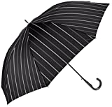 (ムーンバット)MOONBAT(ムーンバット) (ミズノ)MIZUNO 紳士ジャンプ式長傘(少し大きめ親骨70cm) 耐風傘2カラーストライプ 21-015-83871-03 15-70 ブラック 親骨の長さ70cm