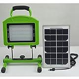 【 太陽光パネルが付いてるので電源不要! 】 車 用品 カー ソーラー LED 投光機 投光器 ライト 防水 USB 端子 SD-SOLAR01-20